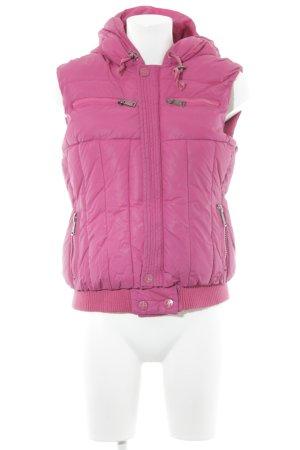 Silvian heach Steppweste pink Steppmuster Casual-Look