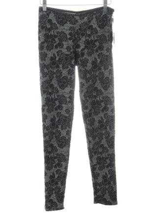 Silvian heach Stoffhose schwarz-grau florales Muster Casual-Look