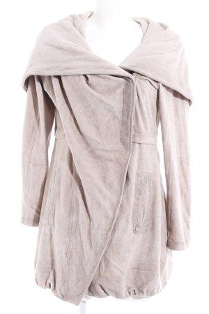 Simclan Manteau à capuche rose chair molletonné