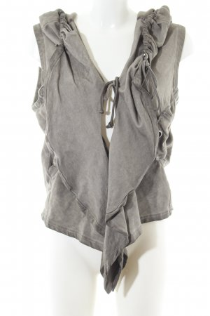 Simclan Hooded Vest light grey casual look