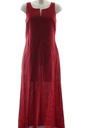 Simclan Vestido largo rojo look casual