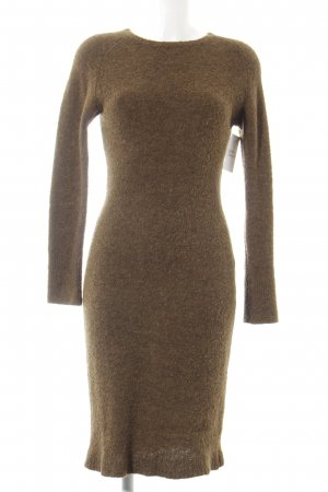 Simclan Sweater Dress grey brown-green grey flecked fluffy
