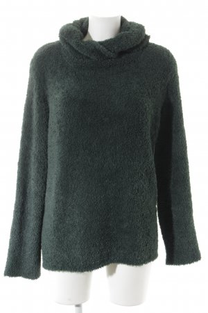 Simclan Turtleneck Sweater forest green fluffy
