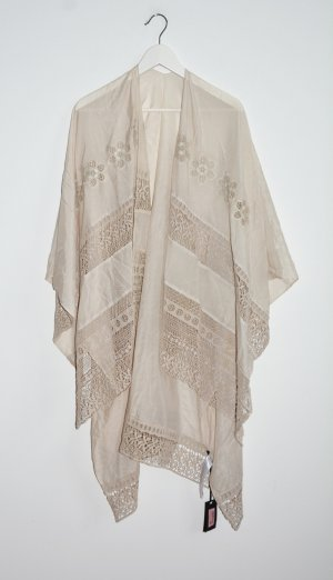 Twin set Poncho beige mixture fibre