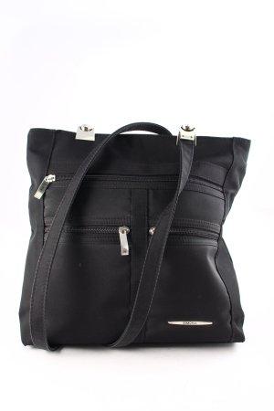 simona fashion Handtasche schwarz klassischer Stil