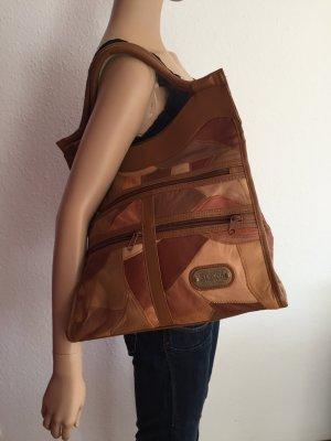 Simona Tasche Umhängetasche braune echtes Leder Lederhandtasche Ledertasche