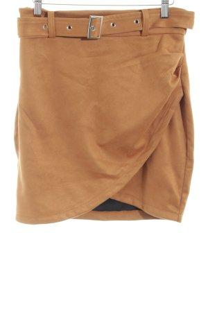 Simplee Jupe taille haute brun style décontracté
