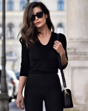 100% Fashion Cashmere Jumper black