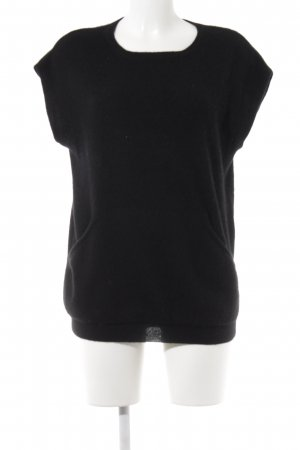 Simply Cashmere Short Sleeve Sweater black casual look