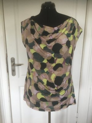 Vera Wang Cowl-Neck Top multicolored polyester
