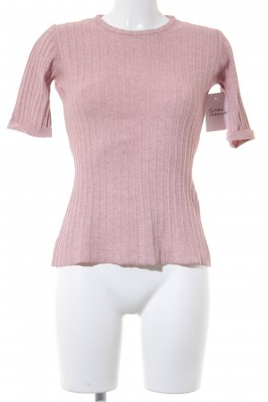 Sincerely Jules Short Sleeve Sweater dusky pink casual look