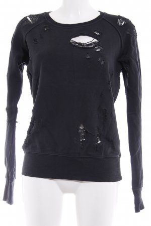 Sincerely Jules Rundhalspullover schwarz Street-Fashion-Look