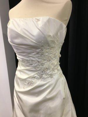 Wedding Dress natural white silk
