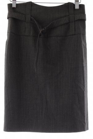 Sinéquanone Bleistiftrock grau-schwarz Nadelstreifen Business-Look