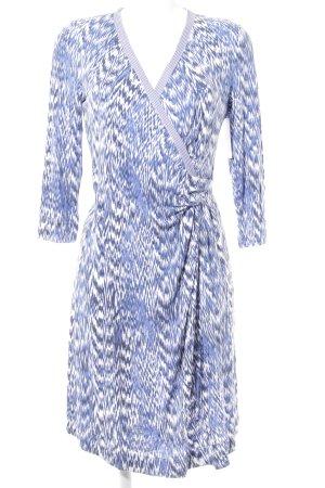 Sinéquanone Langarmkleid blau-weiß abstraktes Muster Casual-Look