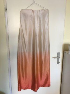 Sinequanone langes schulterfreies Seidenkleid