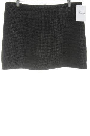 Sinéquanone Minirock schwarz-silberfarben Glanz-Optik