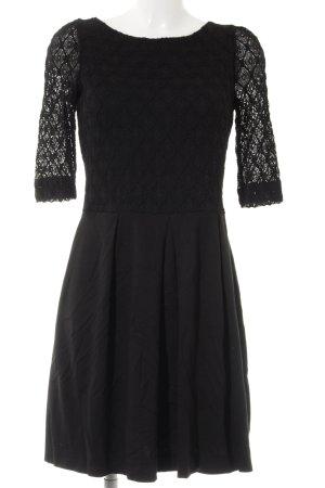 Sinéquanone Spitzenkleid schwarz abstraktes Muster Elegant