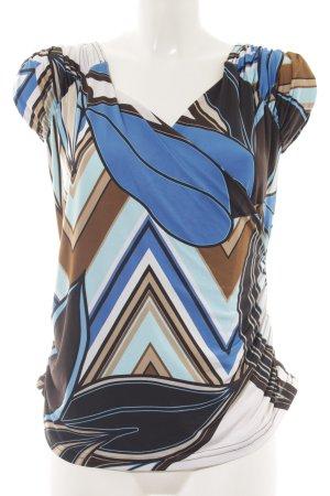 Sinéquanone Wickelshirt abstraktes Muster extravaganter Stil