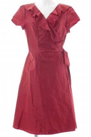 Singh Madan Wickelkleid rot Glanz-Optik