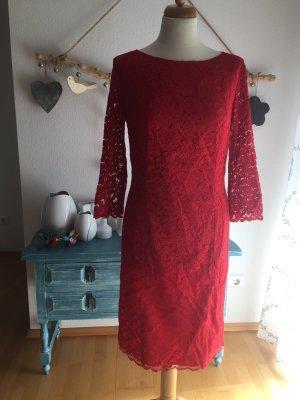 Singh s Madan spitzen Kleid rot Größe 42
