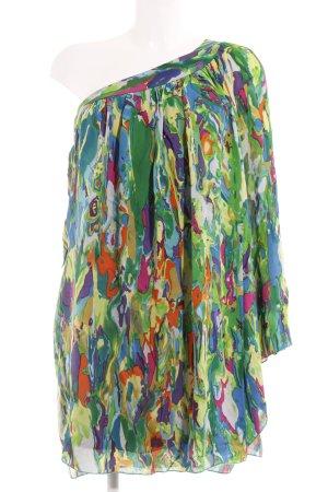 single dress Vestido de un hombro estampado abstracto estilo extravagante