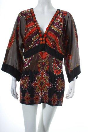 Single Shirttunika Ornamentenmuster Hippie-Look
