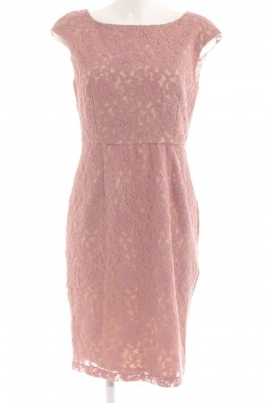 Single Spitzenkleid roségoldfarben-goldfarben florales Muster Romantik-Look