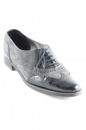 Sioux Wingtip Shoes black-anthracite business style