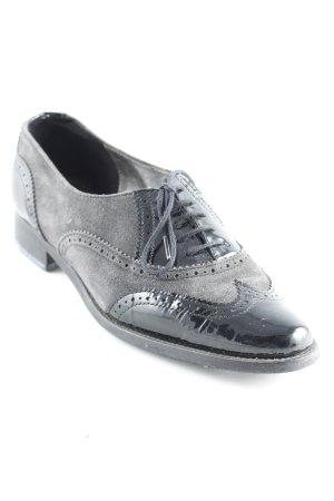 Sioux Zapatos Budapest negro-gris antracita estilo «business»