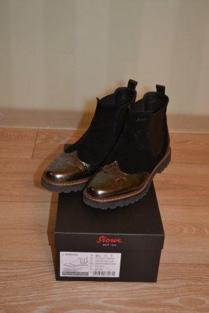 Sioux Chelsea Boots - schwarz mit glänzenden Applikationen