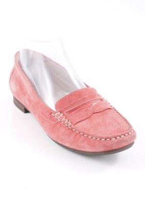 Sioux faltbare Ballerinas rosa-dunkelbraun Casual-Look