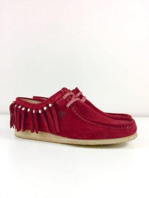 Sioux Grashopper Halbschuhe Schnürschuhe Mokassins Sneaker Gr. 39 Rot NP 149€