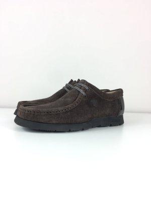 Sioux Grashopper Mokassins Halbschuhe Schnürsenkel Schuhe Gr. 38 braun