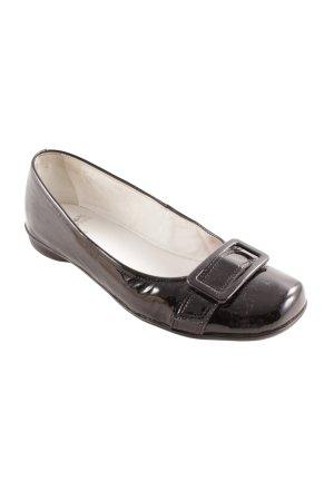 Sioux Patent Leather Ballerinas black elegant