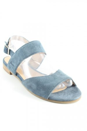 Sioux Riemchen-Sandalen stahlblau-beige Casual-Look