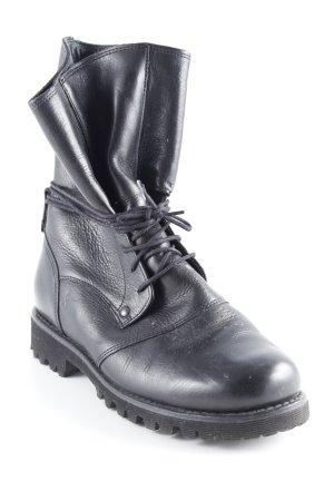 Sioux Schnür-Stiefeletten schwarz Casual-Look