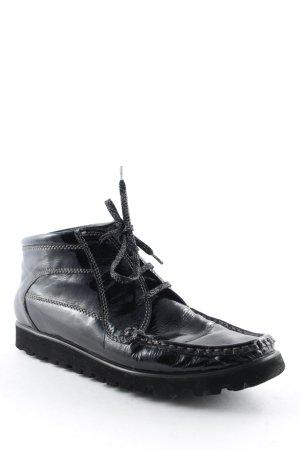 Sioux Zapatos brogue negro look de cuero