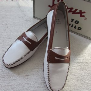 Sioux Mocassins wit-cognac