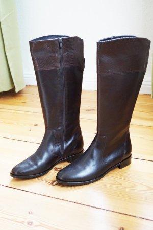 Sioux Winterstiefel Boots gefüttert Leder dunkelbraun weich bequem warm 38,5 NEU