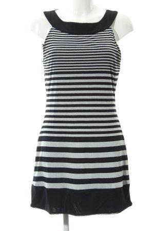 Sir Oliver Abito blusa nero-bianco motivo a righe stile casual