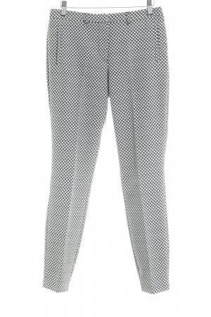 Sir Oliver Pantalon à pinces noir-blanc motif abstrait style décontracté