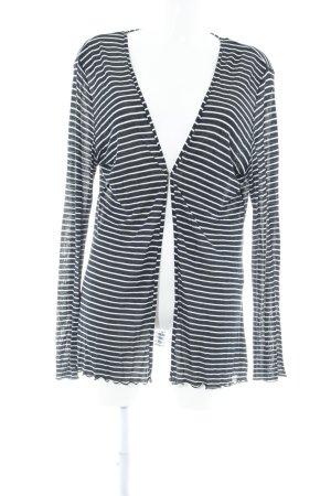 Sir Oliver Cardigan bianco sporco-blu scuro motivo a righe stile casual