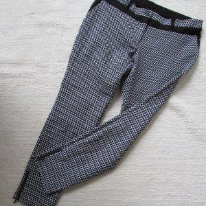 Sir Oliver Pantalone elasticizzato bianco-nero