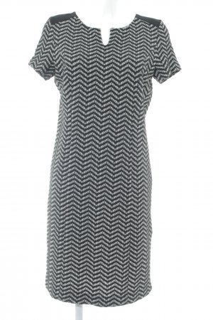 Sir Oliver Sheath Dress black-cream zigzag pattern business style