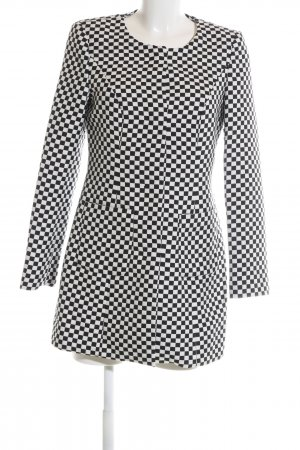 Sir Oliver Frock Coat white-black check pattern business style