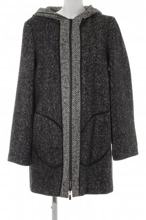 Sir Oliver Hooded Coat black flecked casual look
