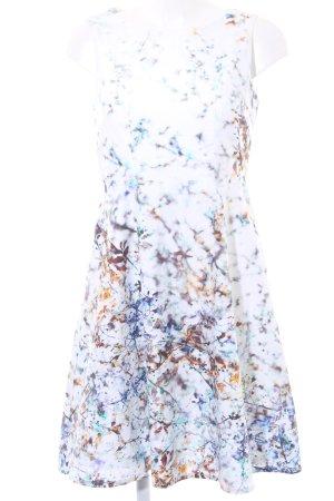 Sir Oliver Abito a maniche corte color cammello-blu acciaio motivo floreale