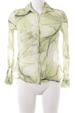 Sir Oliver Langarm-Bluse blassgrün-dunkelgrün abstraktes Muster Casual-Look
