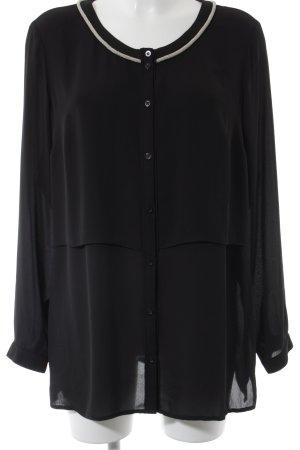 Sir Oliver Langarm-Bluse schwarz Elegant